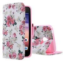 Stylové pouzdro na mobil Huawei Ascend Y550 - květinová koláž