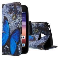 Stylové pouzdro na mobil Huawei Ascend Y550 - modrý motýl