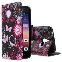 Stylové pouzdro na mobil Huawei Ascend Y550 - kouzelní motýlci