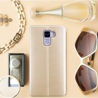 Elegantní PU kožené pouzdro na mobil Huawei Honor 7 - gold