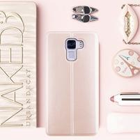 Elegantní PU kožené pouzdro na mobil Huawei Honor 7 - rose gold