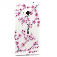 Gelový obal na mobil Microsoft Lumia 535 - květy švestky