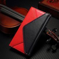 Breck peňaženkové puzdro pre Samsung Galaxy S6 - červené/čierne