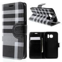 Módní stylové pouzdro na Samsung Galaxy S6 - černé