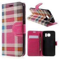 Módní stylové pouzdro na Samsung Galaxy S6 - rose