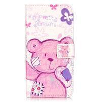 Emotive PU kožené pouzdro na mobil Honor 7 Lite - medvídek