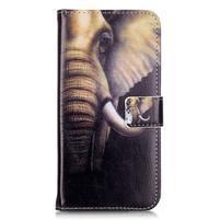 Emotive PU kožené pouzdro na mobil Honor 7 Lite - slon