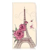 Emotive PU kožené pouzdro na mobil Honor 7 Lite - Eiffelova věž