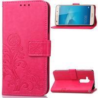 Buttefly PU kožené pouzdro na mobil Honor 7 Lite  - rose