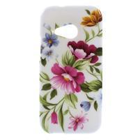 Gelový kryt na HTC One mini 2 - květiny