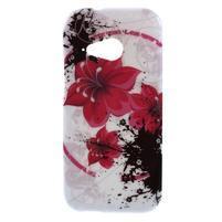 Gelový kryt na HTC One mini 2 - červené květiny