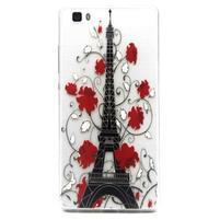 Transparentní gelový obal na Huawei Ascend P8 Lite - Eiffelova věž