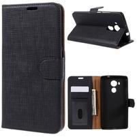 Clothy PU kožené pouzdro na Huawei Mate 8 - černé