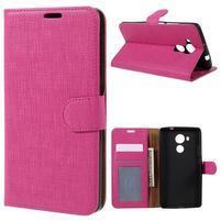 Clothy PU kožené pouzdro na Huawei Mate 8 - rose