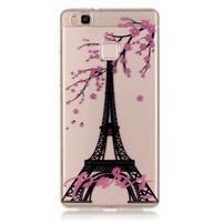 Průhledný gelový obal na mobil Huawei P9 Lite - Eiffelova věž