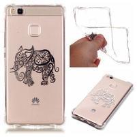 Lacqe gelový obal na Huawei P9 Lite - slon
