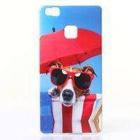 Jelly gelový obal na telefon Huawei P9 Lite - pes na dovolené