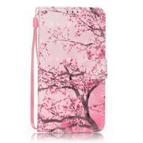 Knížkové PU kožené pouzdro na Huawei P9 Lite - kvetoucí strom
