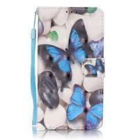 Knížkové PU kožené pouzdro na Huawei P9 Lite - motýlci