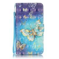 Knížkové PU kožené pouzdro na Huawei P9 Lite - kouzelný motýlek