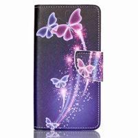 Patter PU kožené pouzdro na mobil Huawei P9 Lite - kouzelní motýlci