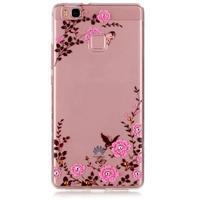Transparentní obal na telefon Huawei P9 Lite - květinky