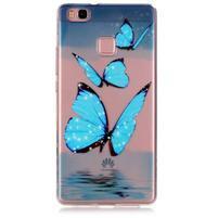 Transparentní obal na telefon Huawei P9 Lite - motýlci