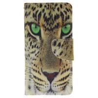 Lethy knížkové pouzdro na telefon Huawei P9 Lite - leopard