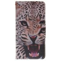 Lethy knížkové pouzdro na telefon Huawei P9 Lite - gepard