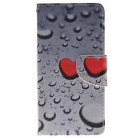 Lethy knížkové pouzdro na telefon Huawei P9 Lite - srdíčka