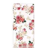 Shelly plastový obal na mobil Huawei P9 Lite - květiny