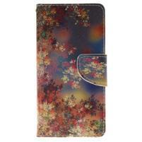Lethy knížkové pouzdro na telefon Huawei P9 Lite - podzimní zátiší