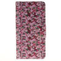Lethy knížkové pouzdro na telefon Huawei P9 Lite - koláž růží
