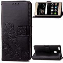 Cloverleaf peněženkové pouzdro na Huawei P9 Lite - černé