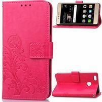 Cloverleaf peněženkové pouzdro na Huawei P9 Lite - rose