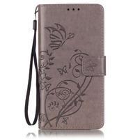 Magicfly knížkové pouzdro na telefon Huawei P9 Lite - šedé
