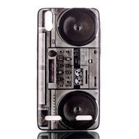 Jelly gelový obal na mobil Lenovo A6000 - retro kazeťák