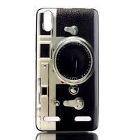 Jelly gelový obal na mobil Lenovo A6000 - retro foťák