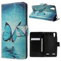 Emotive peněženkové pouzdro na mobil Lenovo A6000 - modrý motýl