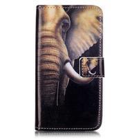 Knížkové pouzdro na mobil Lenovo Vibe K5 / K5 Plus - slon