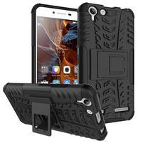 Outdoor odolný obal na mobil Lenovo Vibe K5 / K5 Plus - černý