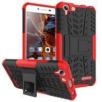 Outdoor odolný obal na mobil Lenovo Vibe K5 / K5 Plus - červený