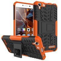 Outdoor odolný obal na mobil Lenovo Vibe K5 / K5 Plus - oranžový