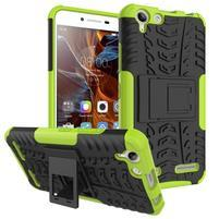 Outdoor odolný obal na mobil Lenovo Vibe K5 / K5 Plus - zelený