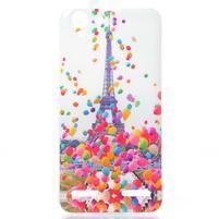 Softy gelový obal na mobil Lenovo Vibe K5 / K5 Plus - Eiffelova věž