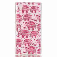 Softy gelový obal na mobil Lenovo P70 - růžoví sloni
