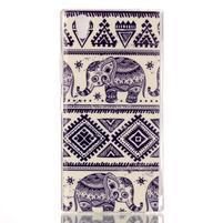 Softy gelový obal na mobil Lenovo P70 - sloni