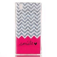 Softy gelový obal na mobil Lenovo P70 - smile