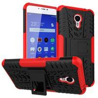 Outdoor odolný kryt na mobil Meizu M3 note - červený