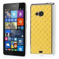 Drahokamový kryt na Microsoft Lumia 535 - žlutý